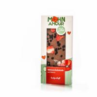 Vollmilch-Mohnschokolade mit Beeren