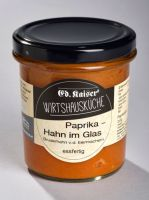 Paprika Hahn im Glas
