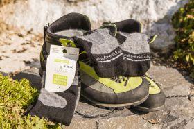 Alpaka Trekking Socken - schwarz / grau