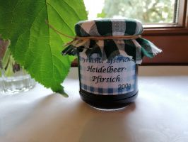 Heidelbeer-Pfirsich