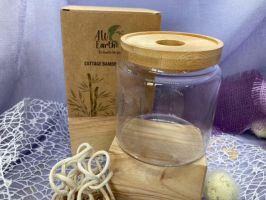 Glas mit Bambusdeckel
