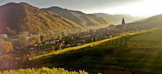 Herbststimmung von der Ried Achleiten mit Blick au...