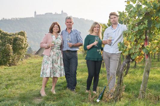 Anneliese, Heinz, Martina und Lukas