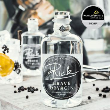 Rick Brave London Dry Gin Silber World Spirit Awar...