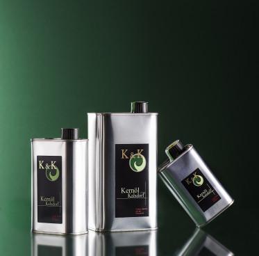 Dosen K & K Kürbiskernöl 250 ml ;  500 ml; 1000 ml