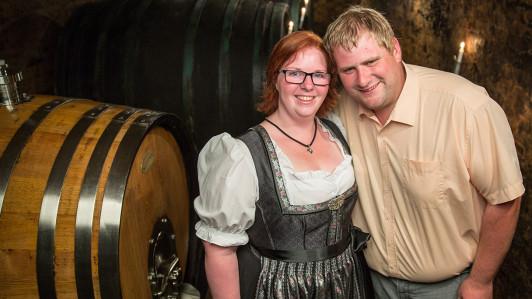 Martin und Judith im alten Klosterkeller