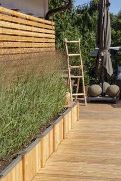 Timberra Hochbeete als Sichtschutz