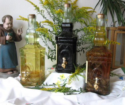 Ein Bild von unseren Verkost-Flaschen am Weihnacht...