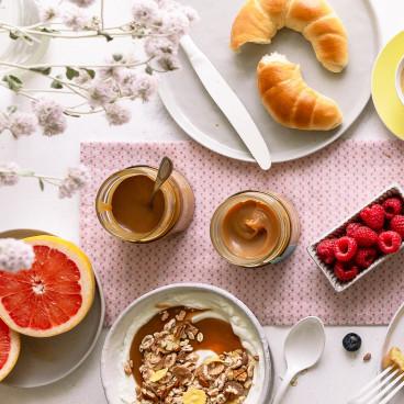 Frühstück mit Karamell Cremen vom Fräulein Fuchs!