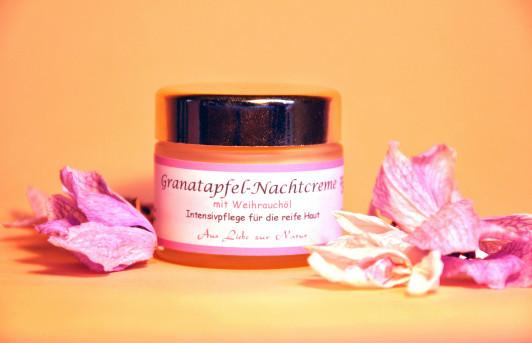 Granatapfel-Nachtcrème  -Intensivpflege für die re...