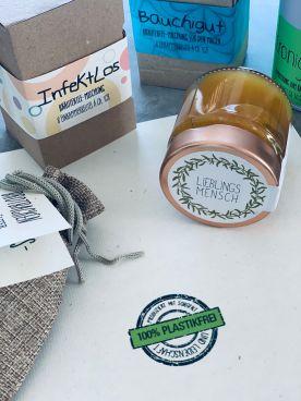 Produkte aus PetrasGarten sind plastikfrei verpack...