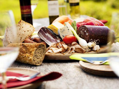 Picknick im Weingarten