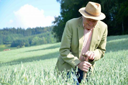 Altbauer Hans Gahleitner, erfolgreicher Saatzüchte...