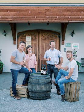 Helmut, Stefanie, Johannes und Matthias