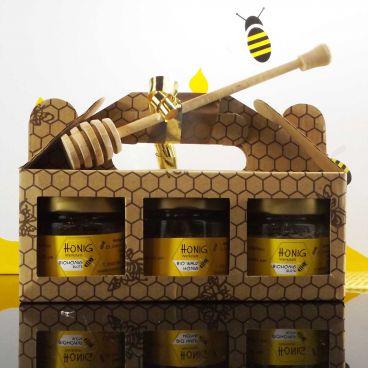 Honig ist ein beliebtes Geschenk, das wertvolle Go...