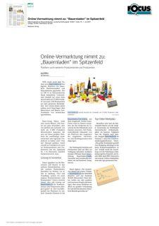 """Online-Vermarktung nimmt zu: """"Bauernladen"""" im Spitzenfeld"""