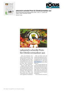 oekoreich schreibt Preis für Direktvermarkter aus