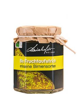 Zutaten: Bio-Birnen, Bio-Zucker, Geliermittel Apfel-Pektin, Zitronensäure