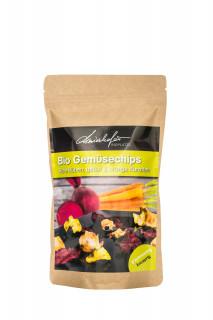 Zutaten: 100% getrocknete Gemüsesorten: Rote Rüben, gelbe- und orange Karotten, Zucchini und Kohlrabi – je nach Verfügbarkeit.
