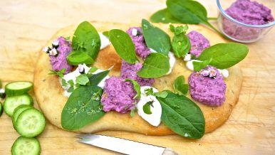 Fladenbrot mit Bohnen-Hummus
