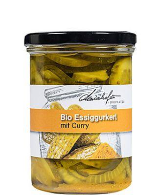 Zutaten: Bio-Gurkerl, Wasser, Bio-Apfelessig (kann Sulfite enthalten), Bio-Zwiebel, Bio-Zucker, Salz, Bio-Currypulver, Bio-Senfkörner