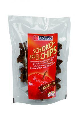 Knusprige Schoko-Apfelchips Zartbitter