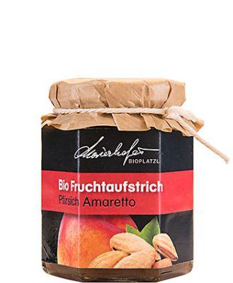 Zutaten:Bio-Pfirsiche, Bio-Zucker, Bio-Amaretto, Geliermittel: Apfel-Pektin, Zitronensäure