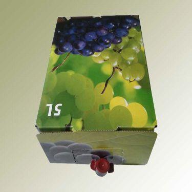 Verjus pur sauer gibt es auch in einer praktischen 5 Liter Baginbox. Der Verjus ist unter Luftabschluss in einem kleinen Plastiksack verstaut. Muss nicht im Kühlschrank aufbewahrt werden. Der Zapfhahn erleichtert eine optimale Dosierung.