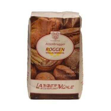 Roggen Vollkornmehl In unserem Roggen Vollkornmehl ist der gesamte Schalenanteil enthalten, dadurch auch mehr Vitamine und Mineralstoffe.  Mit diesem Mehl gelingen schmackhafte Vollkornbrote.