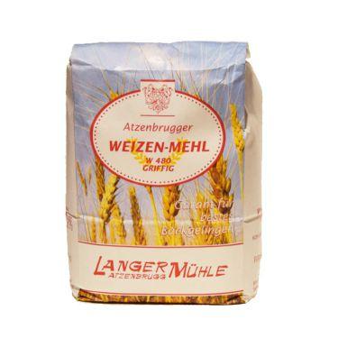 Weizenmehl W480 griffig Unser griffiges Weizenmehl, neutral im  Geschmack, eignet sich unter anderem für  Knödelteige, Topfen-, Nockerl- oder Spätzleteige.