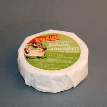Bio Camembert Kräuter aus Rohmilch Demeter