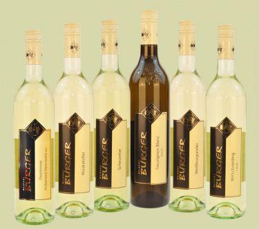 Probe/Vorteilspaket, 6 Flaschen zu je 0,7 ltr. Qualitätsweine
