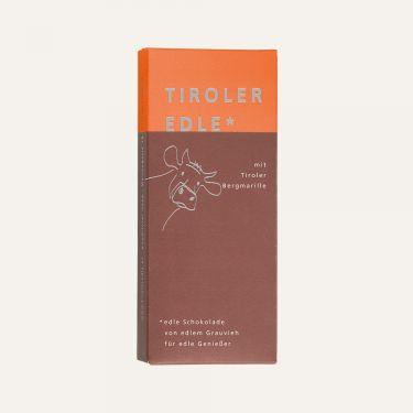 Milchschokolade (Kakao: 39% mindestens) mit 46% Marillencreme.  Zutaten: Zucker, Kakaobutter, VOLLMILCHPULVER, Kakaomasse, FRISCHRAHM, 5% Marillenmark, 2% Marillenbrand, Fructose-Glucose-Sirup, Emulgator: SOJA-LECITHIN.  Alkoholhaltig. Spuren von Schalenobst können vorhanden sein.  Durchschnittliche Nährwerte pro 100 g: Energiewert: 2178 kJ / 524 kcal Fett: 37 g davon gesättigte Fettsäuren: 23 g Kohlenhydrate: 40 g davon Zucker: 37 g Eiweiß: 5,0 g Salz: 0,06 g