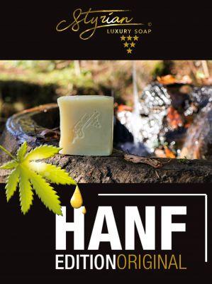 Styrian Luxury Soap HANF Hanföl Arganöl NEUE Seife Hanfseife Hanf Seife