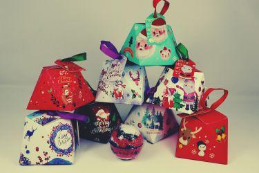 Geschenkbox Weihnachten mit Badebombe